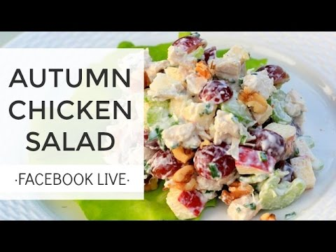 Chicken Salad Recipe -Tasty and Healthy | FaceBook LIVE