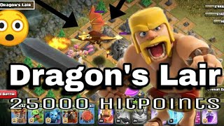 Attack in Dragon's Lair Base & Hit The Giant Dragon || Clash Of Clans ||