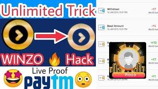 Winzo gold unlimited trick | Winzo aap 30 rs. Live Paytm | winzo app unlimited reffer trick