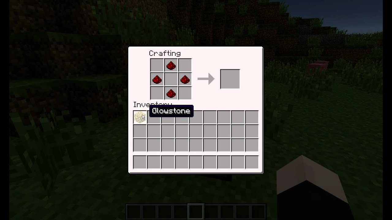 Minecraft - How to make Redstone Lamp - YouTube