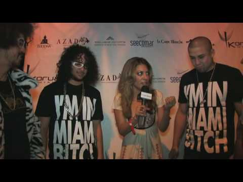 Kavita Channe Interviews LMFAO in Miami...