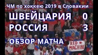 матч Швейцария-Россия 03 Подробный обзор ЧМ-2019 Братислава Словакия 19 мая 2019 г.
