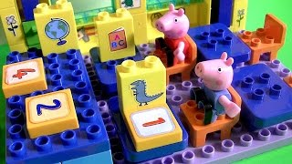 Peppa Pig School Blocks Build Like Lego Juguete De Construcción Escuela Schoolhouse By Toycollector