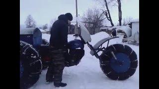 Самодельный снегоход на пневматике