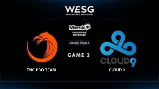 TNC vs Cloud 9 | WESG | Grand Finals | Game 3