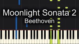Beethoven - Moonlight Sonata 2nd Movement Piano Cover - Sheet Music Available!!