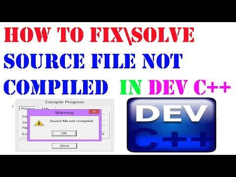 [SOLVED] HOW TO SOLVE SOURCE FILE NOT COMPILED ERROR IN DEV C++ VERY EASY