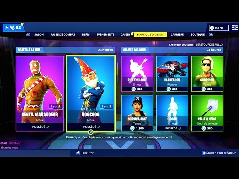 BOUTIQUE FORTNITE du 23 Décembre 2018 ! ITEM SHOP December 23 2018