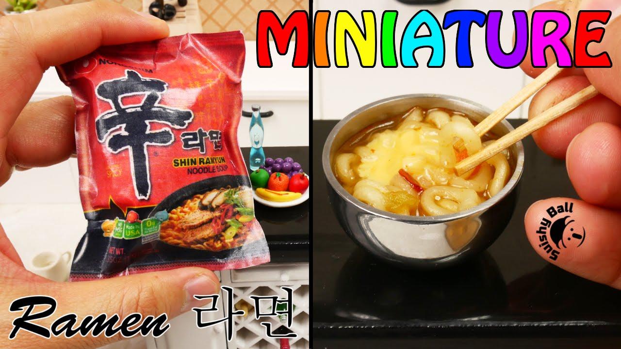 miniature shin ramen real cooking fun! - youtube