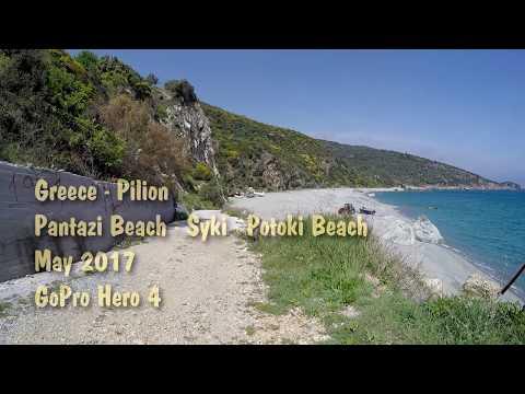 267. Greece - Pilion. GoPro. From Pantazi Beach to Potoki Beach.