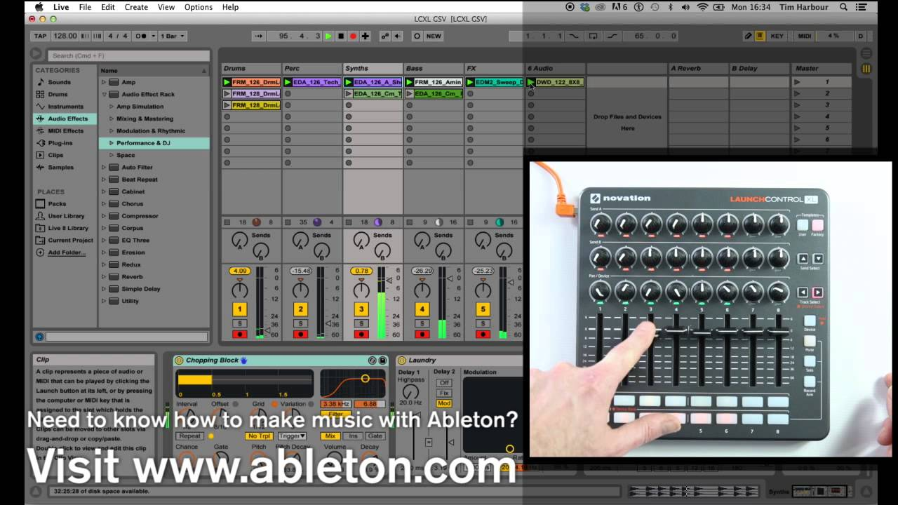 VIDEO: Getting started with Launch Control XL on Mac – Novation