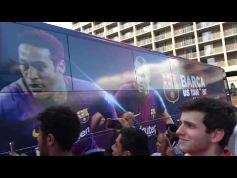 FC Barcelona Football Team; Watergate Hotel, Washington DC, USA - Sportsfans