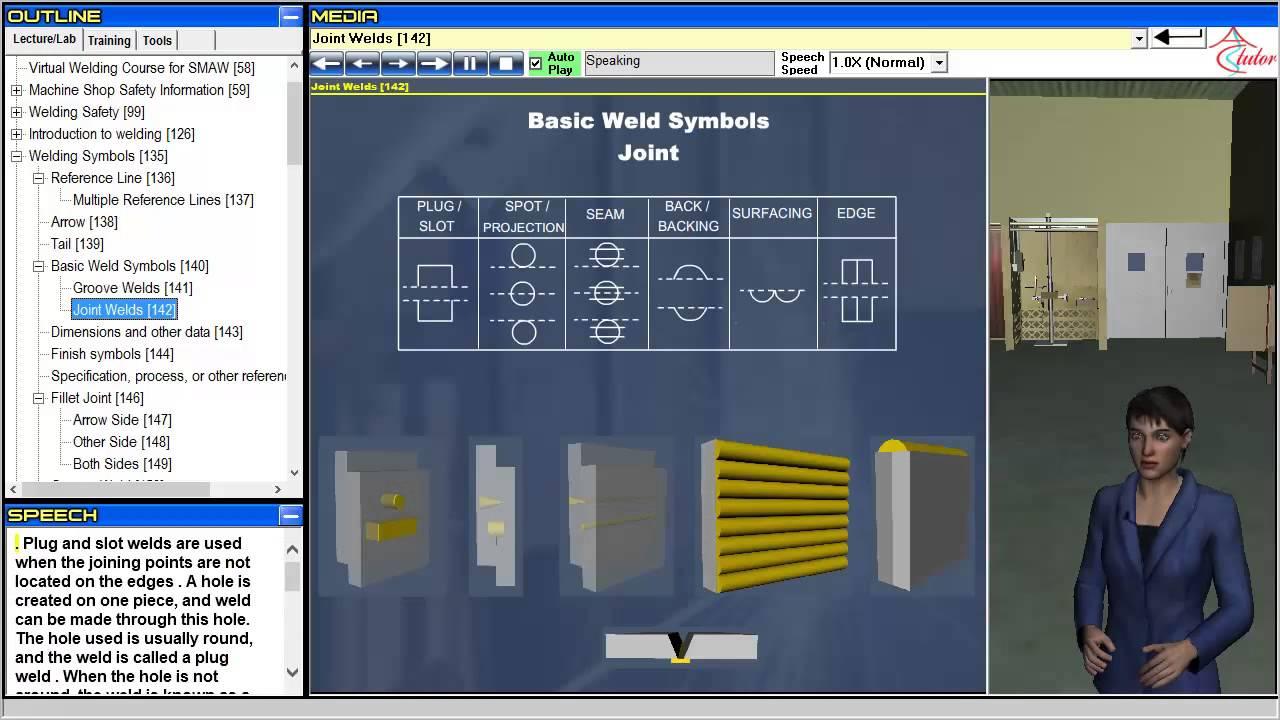 virtual welding welding symbols [ 1280 x 720 Pixel ]