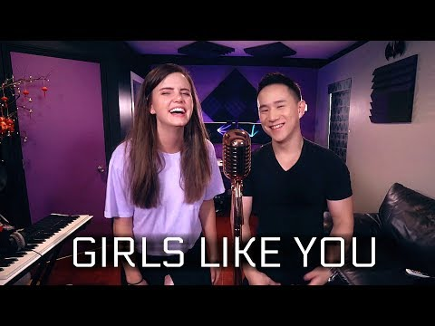 Maroon 5 - Girls Like You Ft. Cardi B (Tiffany Alvord & Jason Chen Cover)