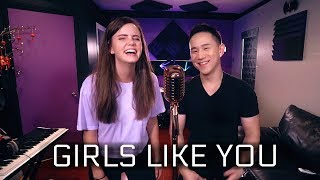 Download Maroon 5 - Girls Like You ft. Cardi B (Tiffany Alvord & Jason Chen Cover)