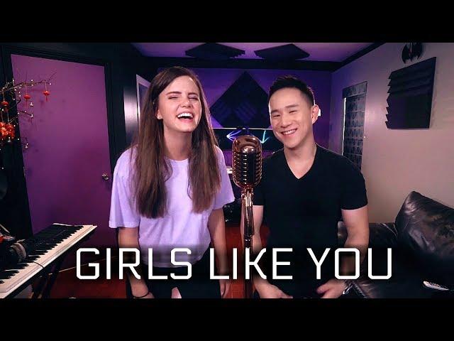 Maroon 5 - Girls Like You ft. Cardi B (Tiffany Alvord & Jason Chen Cover)