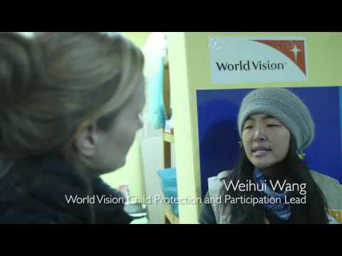 Natasha Little in Serbia with World Vision