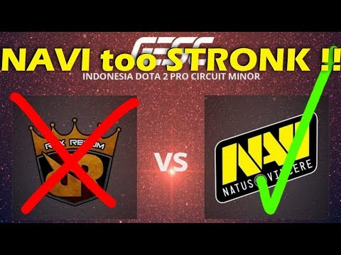 Lagi !! Team Dota2 Indonesia Kalah - Navi Masih Terlalu Kuat Untuk Team RRQ - GESC Indonesia