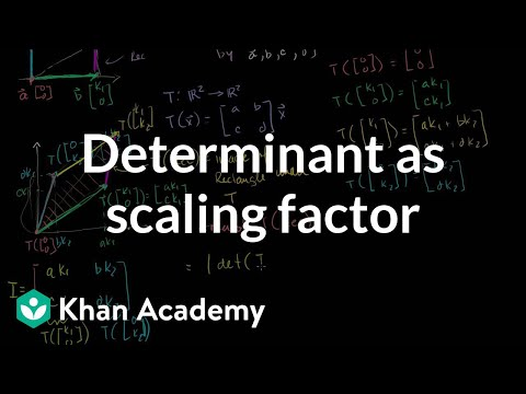 Determinant as scaling factor | Matrix transformations | Lin