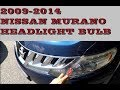 How to replace change headlight bulb in nissan murano 2009 2014 mp3
