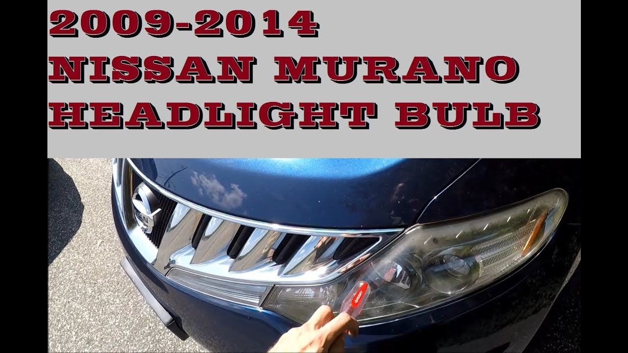 How To Replace Change Headlight Bulb In Nissan Murano 2009