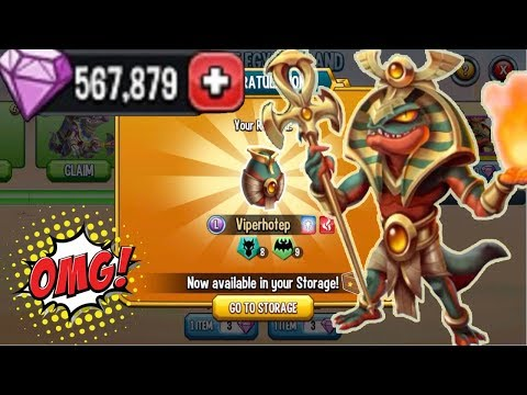 ● Monster Legends - Ancient Egypt island tutorial unlock & get all completed 2018