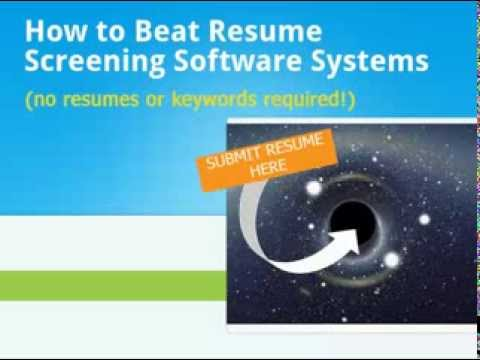 How To Beat Applicant Tracking Software Systems - YouTube - resume screening software