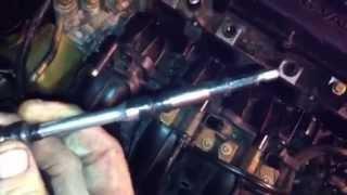 Mazda 6  2.3   intake pcv valve removal hidden center bolt trick how to diy