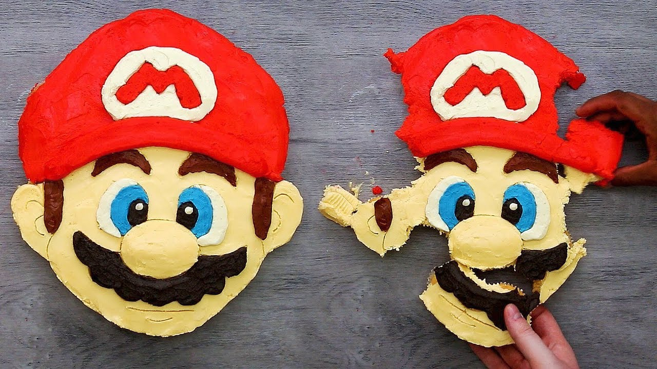 How To Make Super Mario Pull Apart Cupcakes Youtube