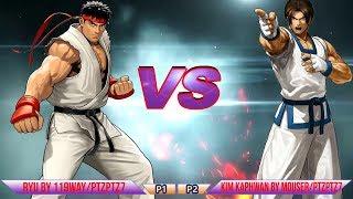 [Mugen - Street Fighter vs. King of Fighters] Ryu vs. Kim Kaphwan - 隆 vs. 金卡法