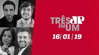 3 em 1 - 16/01/19 - Bolsonaro fala em Mercosul mais enxuto e Macri critica ditadura de Maduro