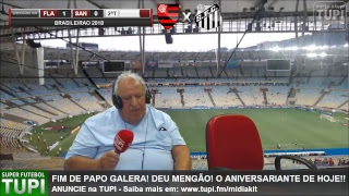 Flamengo 1 x 0 Santos - 34ª Rodada - Brasileirão - 15/11/2018 - AO VIVO