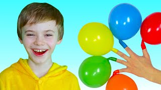Nick plays with Balloons | Daddy Finger Nursery Rhymes | 동요와 아이 노래 | 어린이 교육