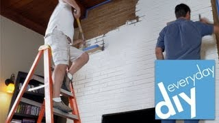 How To Paint A Brick Fireplace -- Buildipedia Diy