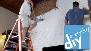 How To Paint A Brick Fireplace -- Buildipedia Diy