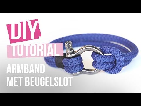 Sieraden maken: Armband met beugelslot en macramé ♡ DIY