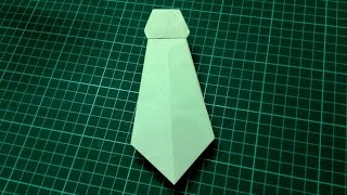 How to make origami paper neck tie | Origami / Paper Folding Craft, Videos & Tutorials.