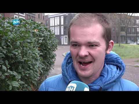 Iedereen in IJmuiden is blij voor Sebastiaan: hij kan weer bezorgen met de fiets!