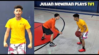 Julian Newman Plays ANGRY Part 2! 1v1 with Downey Teammates