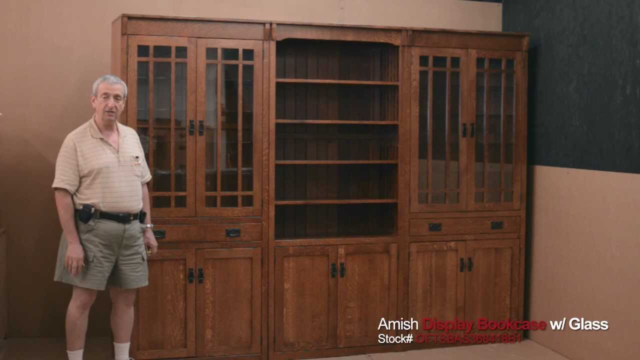bookcase bookcases oakwood american in furniture w shaker daytona solid beach category ao florida wood office amish made