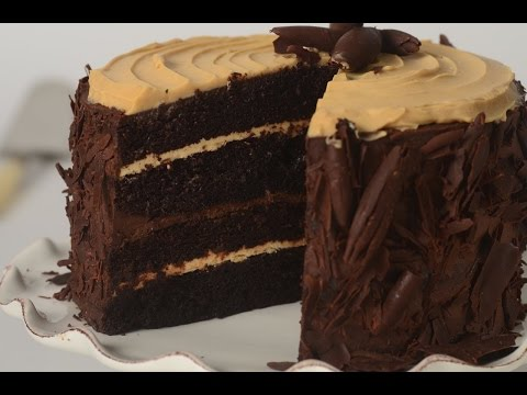 Chocolate Peanut Butter Cake Recipe Demonstration - Joyofbaking.com