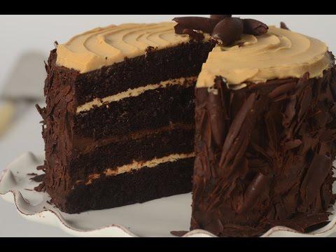 Chocolate Peanut Butter Cake Recipe Demonstration - Joyofbaking.com