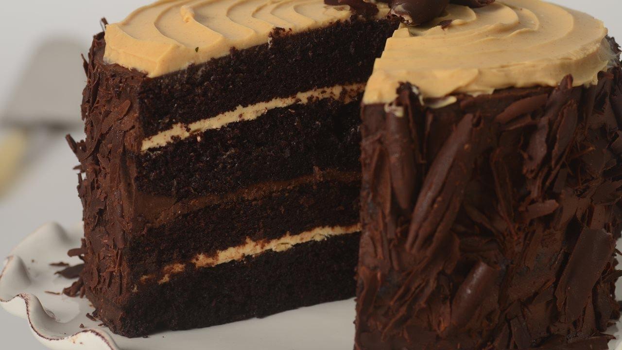 Chocolate Cake Recipe Joy Of Baking: Chocolate Peanut Butter Cake Recipe Demonstration