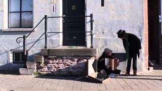 Scrooge ontmoet een straatmuzikant