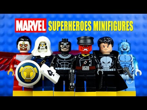 LEGO Marvel Superheroes vs Supervillains KnockOff Minifigures w/ Bullseye Punisher & Red Skull