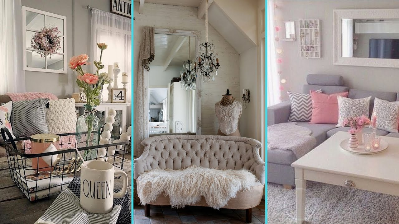 DIY Shabby Chic Style Small Apartment decor Ideas  Home decor  Interior design Flamingo mango