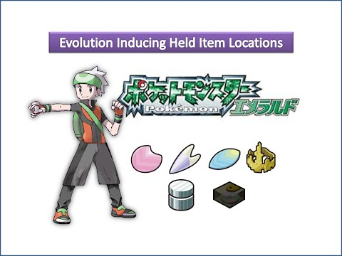 Pokemon Emerald - Evolution Inducing Held Item Locations
