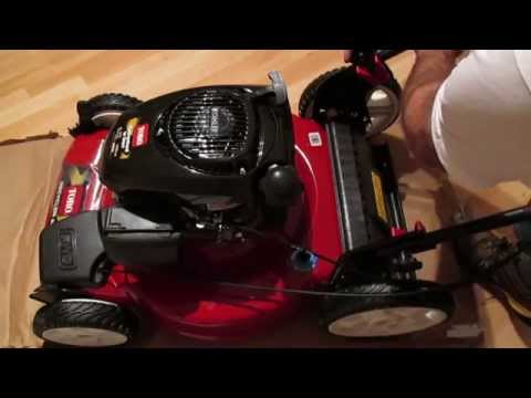 Assembling a new lawn mower