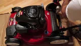 Assembling a new lawn mower