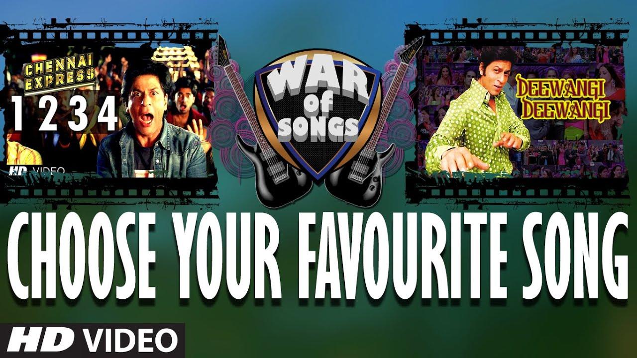 War of Songs – 1234 Get on the Dance Floor OR Deewangi Deewangi | Vote Now | Sharukh Khan Watch Online & Download Free